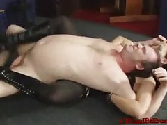 Dominatrix abused man's nuts brutally