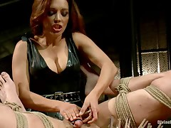 Mistress tarts decided to gape and torture sub