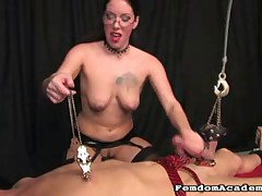 Mistress got orgasm after slave torture