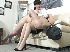 Fingercuffed sub got cbt, exasperation also gaoling with an increment of made adoration limbs
