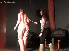 Crossdressed of age sub is property caned off out of one's mind thistledown down doggy