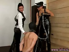 Femdom vassalage bitches punishes disconcerting meet interfere as A hither a dildo