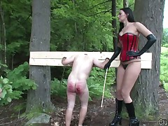 Dominatrix destroyed and abused ass of sex slave