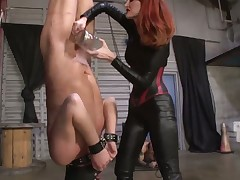 Bound dude was tortured by cruel slut