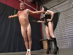 Brunette dominatrix got cunnilingus from subby