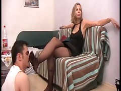 Very bad slave got trampling tortures from Dominatrixes