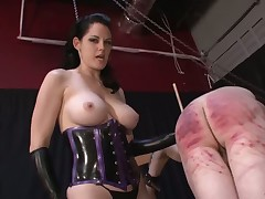 Mistress was punishing her sex slave
