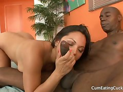 Slave daddy receive dildos from hot Dominatrixes