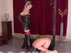 Hard tormenting for slave in office