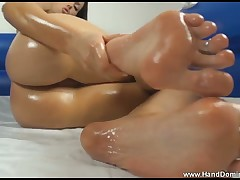 This sexy blonde will milking