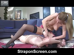 Drugged sluts humiliate slave