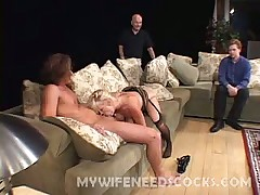 Wild sex orgy with horny wife