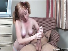 Nasty girl Alyssa taking control over huge hard cock
