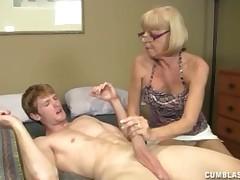 Simmering granny Incandesce helps young coxcomb relative to cum