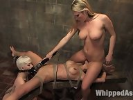 3 girls in sexy lesbian BDSM.