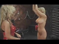 Lesbians Latex And Spanking