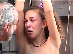 Bound bitch cries after kinky spanking