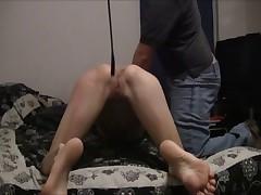 Cane spanking