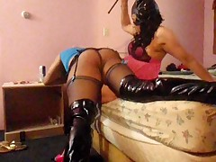 Ms.Tanya's spanking and thigh fuck