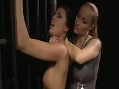 Lezdom domina spanks her until shes red raw