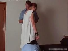 A fine spanking for a cute brunette