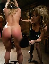 Aurora Snow is tied up, spanked, then ass fucked till she\\\'s gapping by sadistic domme Maitresse Madeline.
