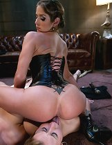 Two promiscuous sluts get captured, punished and fucked for messing with the wrong bitch\\\'s boyfriend