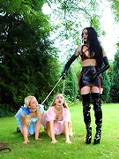 Domina with two female slaves