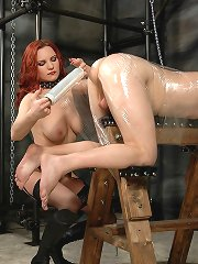 Malesub wrapped in plastic and tormented