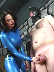 Blue Latex Mistress