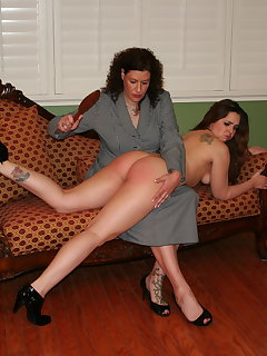 <!–-IMAGE_COUNT-–> of Adriana bent over on couch
