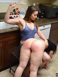 <!–-IMAGE_COUNT-–> of Dani Daniels Spanks Kay in her Kitchen