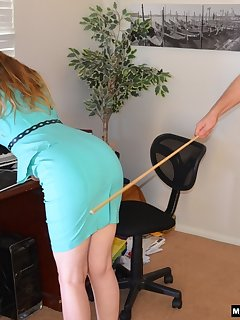 <!–-IMAGE_COUNT-–> of She receives a long hard caning