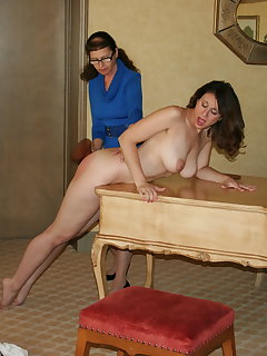 Bent over spanking pics