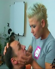 Foot dominating mistress Kahti gets mean