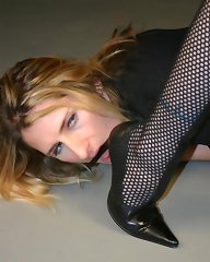 Slave licking toes