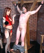 Cbt and humiliations in dungeon
