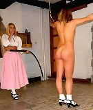 Blonde and brunette babes gets hard whipped