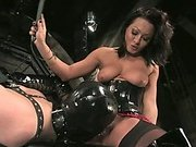 Mistress Sandra Romain fucks sub boy