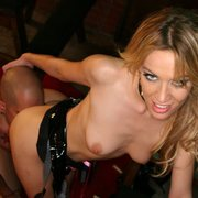 Hot blonde mistress in facesitting action