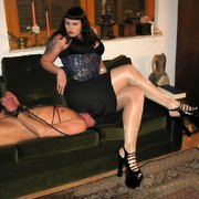 Big girl humiliate a domestic slave