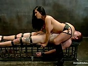 Isis Love punishes young slaveboy then steals every drop of cum out of his cock with her pussy!