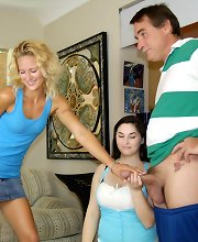 Teens JC and Chloe catch Mr. Johnson beating his meat