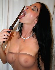Insatiable Carmen dons her favorite costumes and plays with herself to her joy