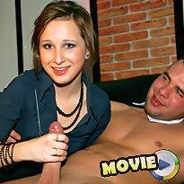 Girl handjobs naked man