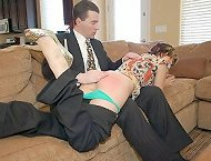 Husband spanks bad wife