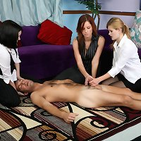 Office guy was punished and stroked