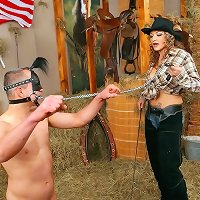 Cowgirl was dominated pony malesub