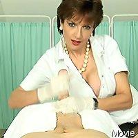 Mature gives medical cfnm