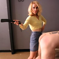 Spanked and caned by strict Mistress